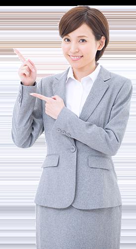 ファクタリング手数料を説明する女性